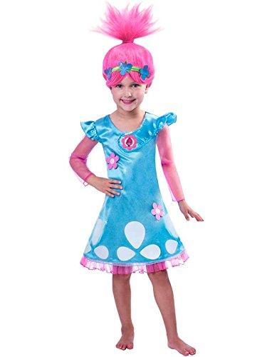 Child Girls Trolls Poppy Costume, 3-4 Años
