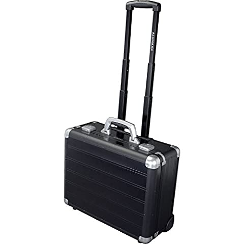 Alumaxx BusinessTrolley GALAXY aus Aluminium, circa 37 × 46 × 20 cm Laptop Rollkoffer, 46 cm, 26 L, Schwarz
