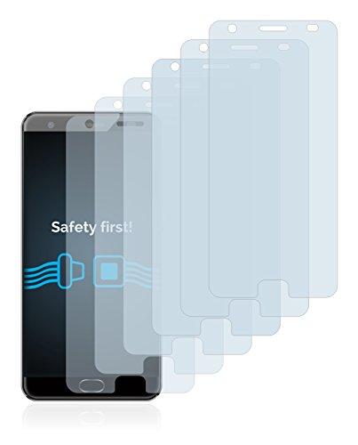 Savvies Schutzfolie für Oukitel K6000 Plus [6er Pack] - klarer Displayschutz