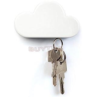 amazing-trading Novelty White Cloud Shape Magnetic Magnets Key Holder Home