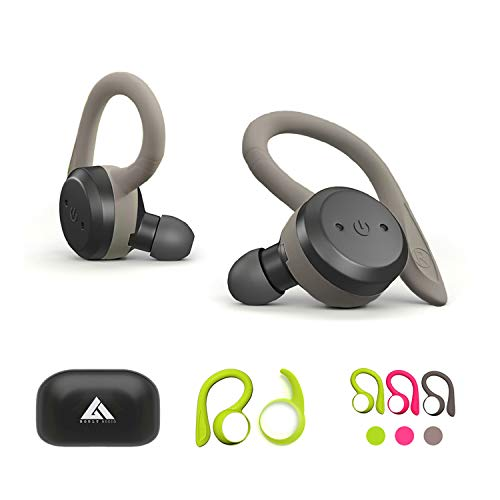 Boult Audio Tru5ive Bluetooth 5.0 Wireless Earphones with mic & 3 Colour earloops (Gray,Neon Green,Pink)
