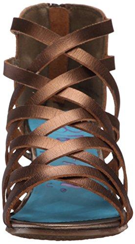 Blowfish Blip Femmes Synthétique Sandales Compensés Bronze Dyecut
