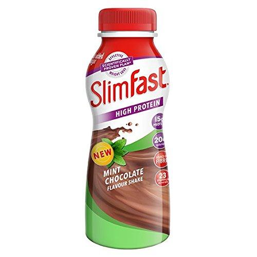 SlimFast Schokolade mint shake Pack Flasche 325ml (Slim Schokolade)