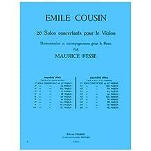 Partitions classique COMBRE COUSIN EMILE - SOLO CONCERTANT N.4 EN MI MIN. - VIOLON ET PIANO Violon
