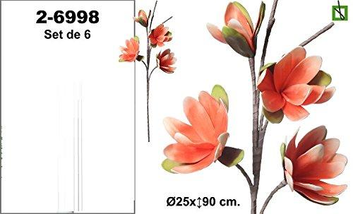 flores d gomaeva grandes - Set de 6 en color salmón