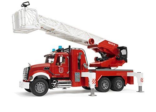 feuerwehr spielzeug bruder Bruder 02821 - MACK Granite Feuerwehrleiterwagen mit Pumpe