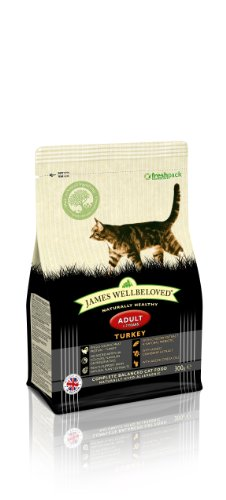James Wellbeloved Turkey and Rice Dry Adult Cat Food - 300 g