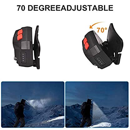 ulocool LED Head Torch, USB Headlamp, Ultra Bright 800 Lumens Rechargeable COB LED Headlight, 70g, with IPX45 Waterproof for Running, Camping, Hiking, Hunting, Climbing, Kids 4