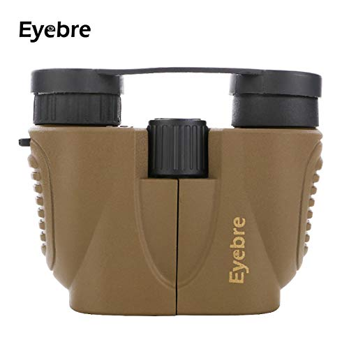 HITSAN INCORPORATION EYEBRE 10X22 Optical Binoculars Telescope HD 114m-1000m Viewing Filed Spotting Scope for Travel Outdoor Sports Color Camel
