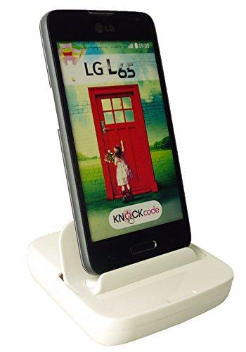 Emartbuy® LG L65 Weiß Smart Dock-Micro-USB v2. 0 Multi Funktion kompatibel Desktop Docking Station Cradle-Ladegerät Usb-sync-charge-desktop-docking