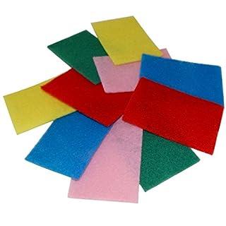 Aerzetix Set of 10Abrasiver Household Sponges 1015/Dishwashing Variable Colours C18611