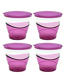Tupperware Eleganzia Tumblers (290 ml) 4 pcs set (Purple)