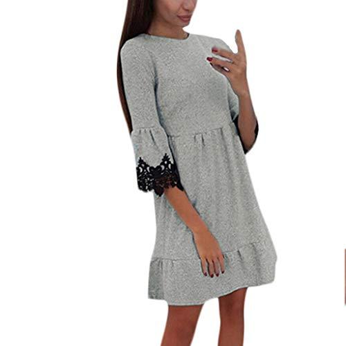 Braun Line Kostüm - 1950Er Vintage Retro Cocktailkleid Rockabilly V-Ausschnitt Faltenrock Bekleidung Kleid Damen A-Line Langarm Casual Elegante Kleider Aus Schulter Kurz Partykleider Bodycon