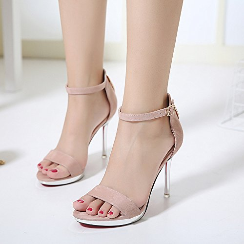 GS~LY Geschenk der Mutter Tages Stiletto High Heel Sandalen Pink