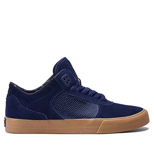 Scarpe Uomo Nero Navy Gum Supra Ellington Vulc Sneakers Men Shoes S27502-40