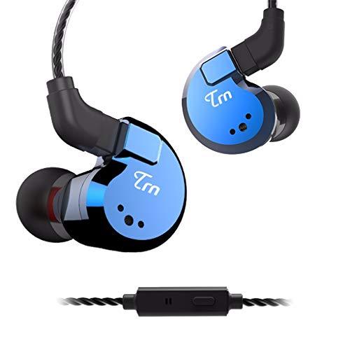 LRWEY Kopfhörer Wasserdichtes, Ohr-HIFI-8-Ring-Bügeleisen-Kopfhörer-Subwoofer mit Mikrofon, für iPhone, iPad, Samsung, Huawei, Xiaom und mehr