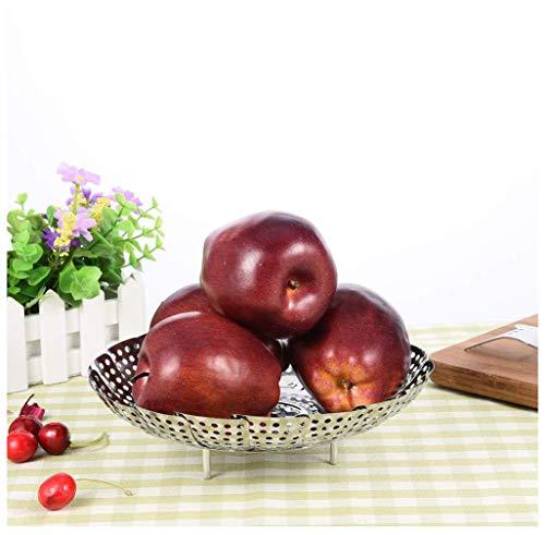 Obstkörbe Obstschale Obstschale Edelstahl Retractable Faltbare Dampfgarer Obstschale Obstteller Kochwerkzeug -Küche Halter & Ständer