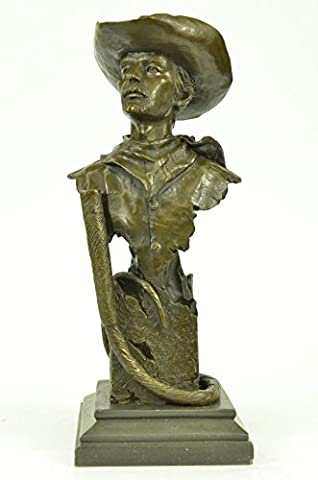 Handmade Rare Bronze Sculpture Bronze Statue Signed Collector Edition Buffalo Bill Old West Cowboy -EUyrd-1191- Decor Collectible