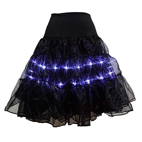 Amphia - Damen Röck,Frauen-Mädchen-Ballettröckchen-Rock führte Glühen-Kostüm-elastisches Ineinander greifen-losen Tanzparty-Ball-Rock