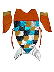 KFD Mermaid Fancy Dress for kids,Fairy Teles,Story book Costume for Annual function/Theme Party/Competition/Stage Shows/Birthday Party Dress