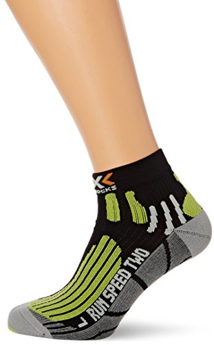 X-Socks Laufsocke Run Speed Two - Calcetines para mujer, color negro,