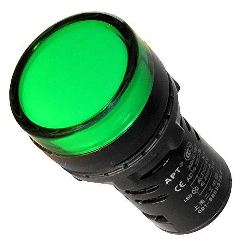 Leuchtmelder grün 230V 22mm Signalleuchte - Led-meldeleuchte