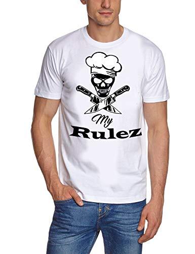 Coole-Fun-T-Shirts Koch Shirt. My Rulez T-Shirt Weiss Gr.2XL