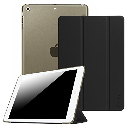 Fintie Hülle für iPad Air 2 (2014 Modell) / iPad Air (2013 Modell) - Ultradünne Superleicht Schutzhülle mit Transparenter Rückseite Abdeckung mit Auto Schlaf/Wach Funktion, Schwarz (1. Ipad 32 Generation)