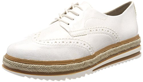 Tamaris Damen 23789 Sneaker, Weiß (White Struct.), 41 EU
