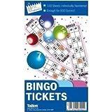 book a 100 sheet 6 games per sheet bingo tickets free postage by Tallon
