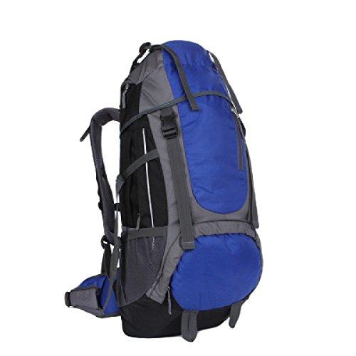 55L Outdoor Trekking Zaino Borse Di Grandi Dimensioni Capacità Di Alpinismo Zaini Uomini E Donne,Red SapphireBlue