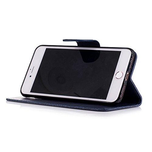 """MOONCASE iPhone 7 Plus Coque, [Impression Ours] Coque Portefeuille [Card Slot] Housse en Cuir Case à rabat avec Béquille pour iPhone 7 Plus 5.5"""" HotPink Saphir"""