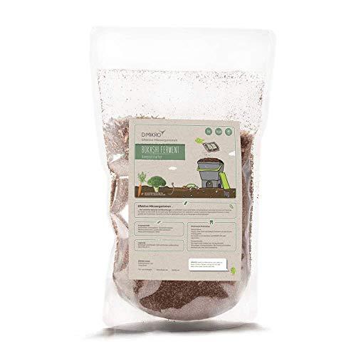 DIMIKRO Bokashi Ferment - Bio Qualität 1 Kg Fermentationshilfe für Bokashi Eimer und Kompost - Eliminiert Gerüche, Schimmel & Fäulnis - 100{dc64222a806eed5aff7b6c9c9318f455dd70a3fab4f063f7c172d672a8ab068f} Vegan & natürlich mit Effektiven Mikroorganismen