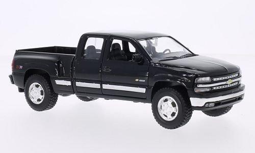 chevrolet-silverado-black-1999-model-car-ready-made-welly-124-by-chevrolet
