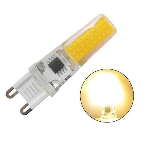 Light Base 2-pin (GRV G9 COB 2508 5 W AC 220 V Schrank LED Silikon Licht Kristall 40 W Leuchtmittel Halogen Track Ersatz, warmweiß, 2er-Packung 5.00 watts)