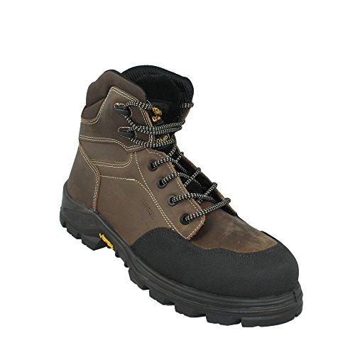 Aimont Scouter S3 HRO SRC Sicherheitsschuhe Arbeitsschuhe Trekkingschuhe hoch Braun Braun