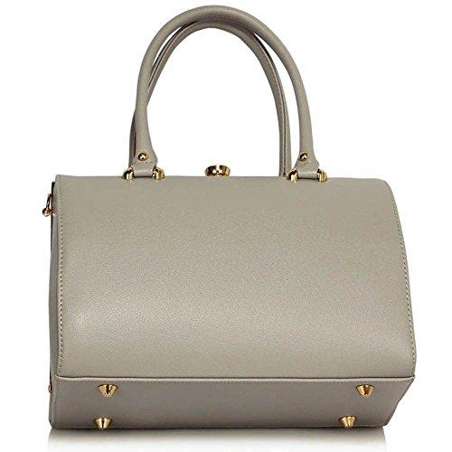 Top Griff Handtaschen Für Frauen (groß, Marine) Mode Designer Taschen Damen Handtaschen Für Groß Und Super Qualität Taschen A - Grau