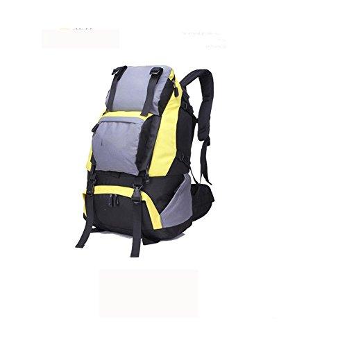 Zaino 40L viaggio all'aperto Backetravel sacco da alpinismo , black Yellow