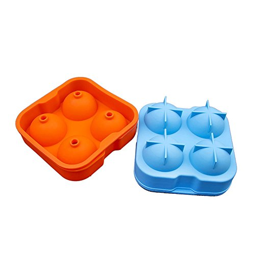 JWBOSS Silicone 4-Ball Ice Cube Tray Mold DIY Jelly Mould Durable Random Color - Ice Ball Tray