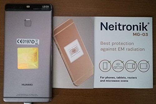 Neitronik Antenna Adesivo Protezione da Radiazione Elettrosmog Cellulari Smatrphone Tablet Monitor PC WiFi Schermatura Inquinamento Elettromagnetico (MG04 1 pz)