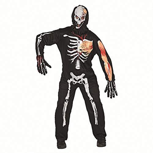 Tdhappy Halloween - Kostüme Cosplay Zombies Schädel Vampire Erwachsene Kinder,Erwachsener Schädel,S