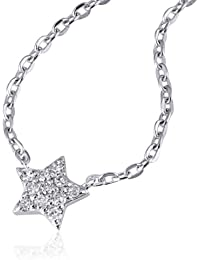 Goldmaid Damen-Coller 14 Karat (585) Weißgold Starshine 11 Diamanten SI/H 0,10 ct. Schmuck