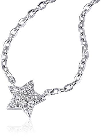Goldmaid Damen-Coller 14 Karat (585) Weißgold Starshine 11 Diamanten SI/H 0,10 ct. Schmuck