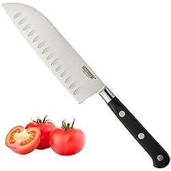 """Sabatier Ustensile de cuisine à triple rivet 5"""" Santoku Knife"""