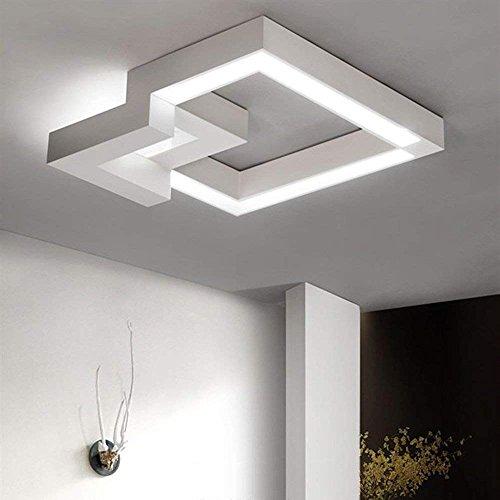 ZMH LED Deckenleuchte Dimmbar Fernbedienung, Farbewechsel stufenlos warmweiß/neutralweiß/kaltweiß Deckenlampe Geometrisches Design Flur Badlampe Deckenbeleuchtung Wohnzimmer (24W-40CM-weiß)