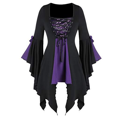 Halloween Vestido Mujer,Blusas De Manga Larga De Talla Grande...