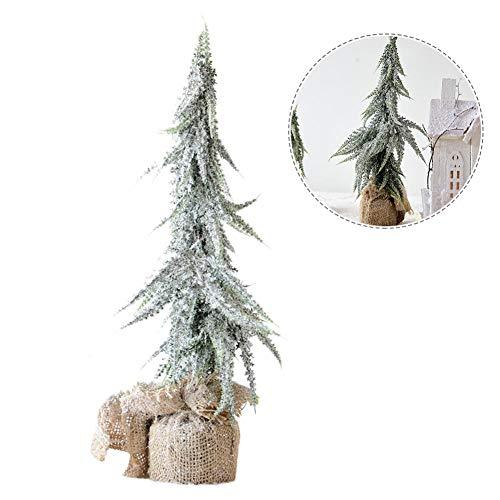 (AUTOECHO für 8 Zoll Weihnachtsbaum Geformte Schnee Frost Tischplatte Dekoration Rustikale 16 Zoll Weihnachtsbaum Schneeflocke Ornamente Home Party DIY für 24 Zoll Outdoor Weihnachtsbaum)
