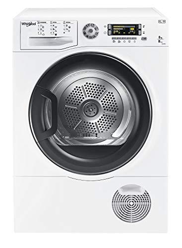 Whirlpool DELY8000 Sèche Linge Condensation 8 kilograms Départ Différé, sonde électronique, Affichage du Temps Restant, Affichage Par LED, Voyant Réservoir Plein, Ecran Classe: B