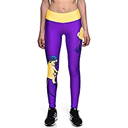 Mujer Polainas De Las Mujeres Friends Chic Impreso Entrenamiento Fitness Estampado Correr Yoga Pantalones Pantalones Deportivos Cintura Elástica Pantalones Leggings (Color : Colour, Size : L)