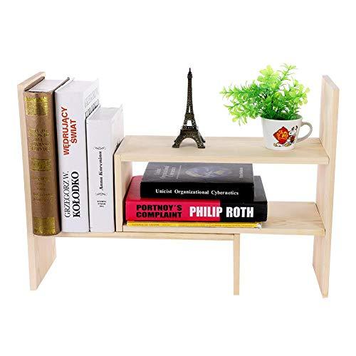 EBTOOLS Kleine Bücherregal, Büro-Organizer, aus Holz, Aufbewahrungsregal, DIY, verstellbar,...